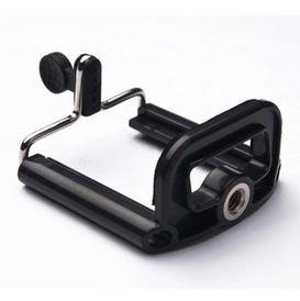 シンプルなスマートフォン用三脚マウント スマートフォン 三脚 三脚固定ホルダー 三脚ネジ穴搭載 大サイズ 5.5cm~8.5cm