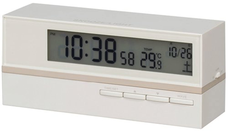 Smartek(スマーテック) 電波目覚まし時計 デジタル表示 マットホワイト ML-464-YWH