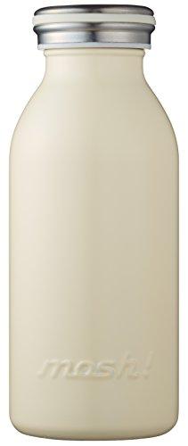 水筒 真空断熱 スクリュー式  マグ ボトル 0.35L アイボリー mosh! (モッシュ! )