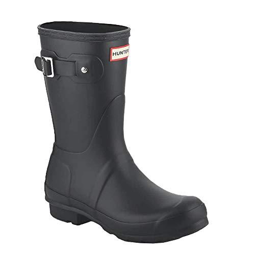 [ハンター] レインブーツ 長靴 ブーツ レディース WOMENS ORIGINAL SHORT BOOT WFS1000RMA {ダークスレート UK3-22.0cm} (hnt001) [並行輸入品]