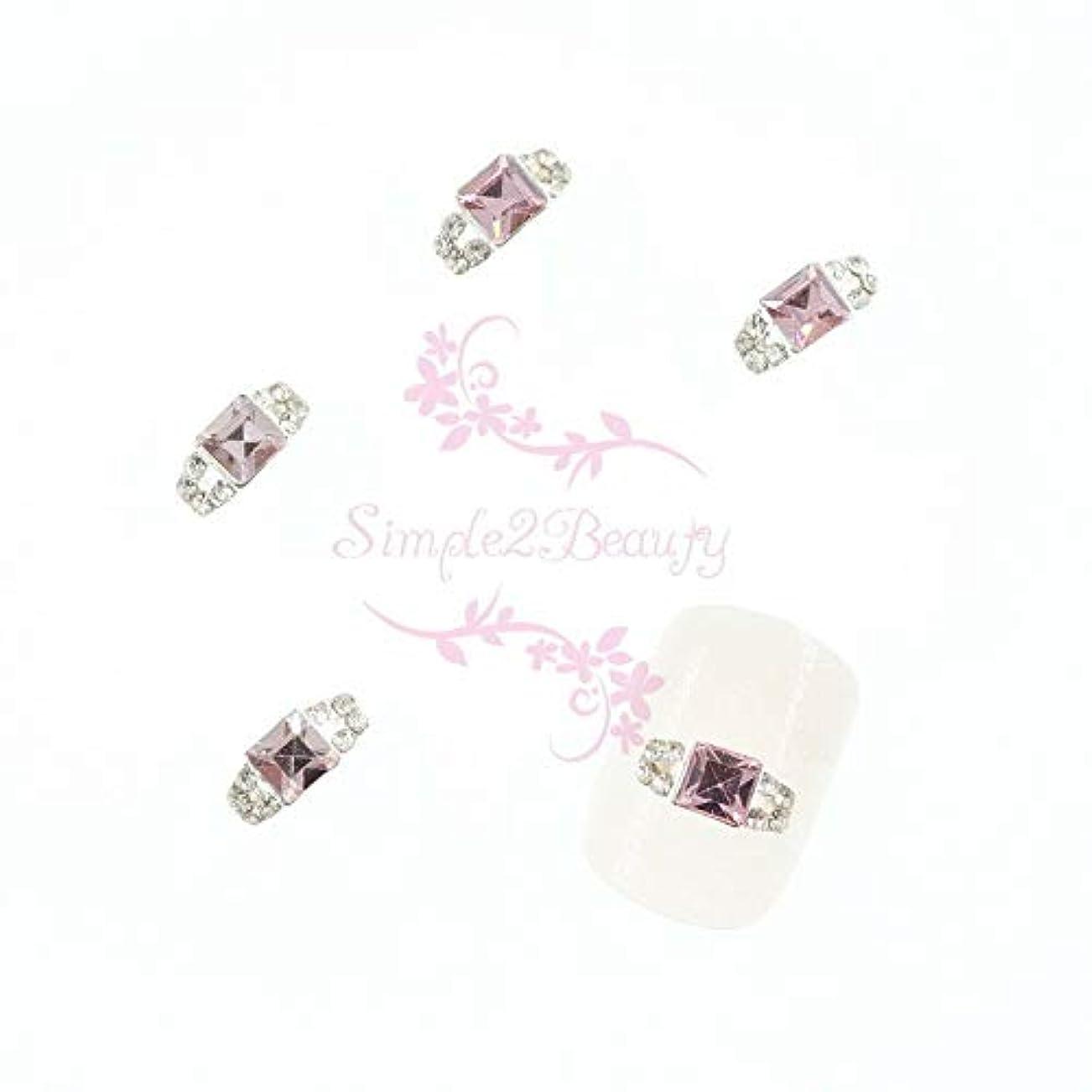 タバコ操作可能グレードFidgetGear 20クリスタルラインストーンの装飾3Dリングスタイルシルバーメッキ合金チャームネイルアート ピンク