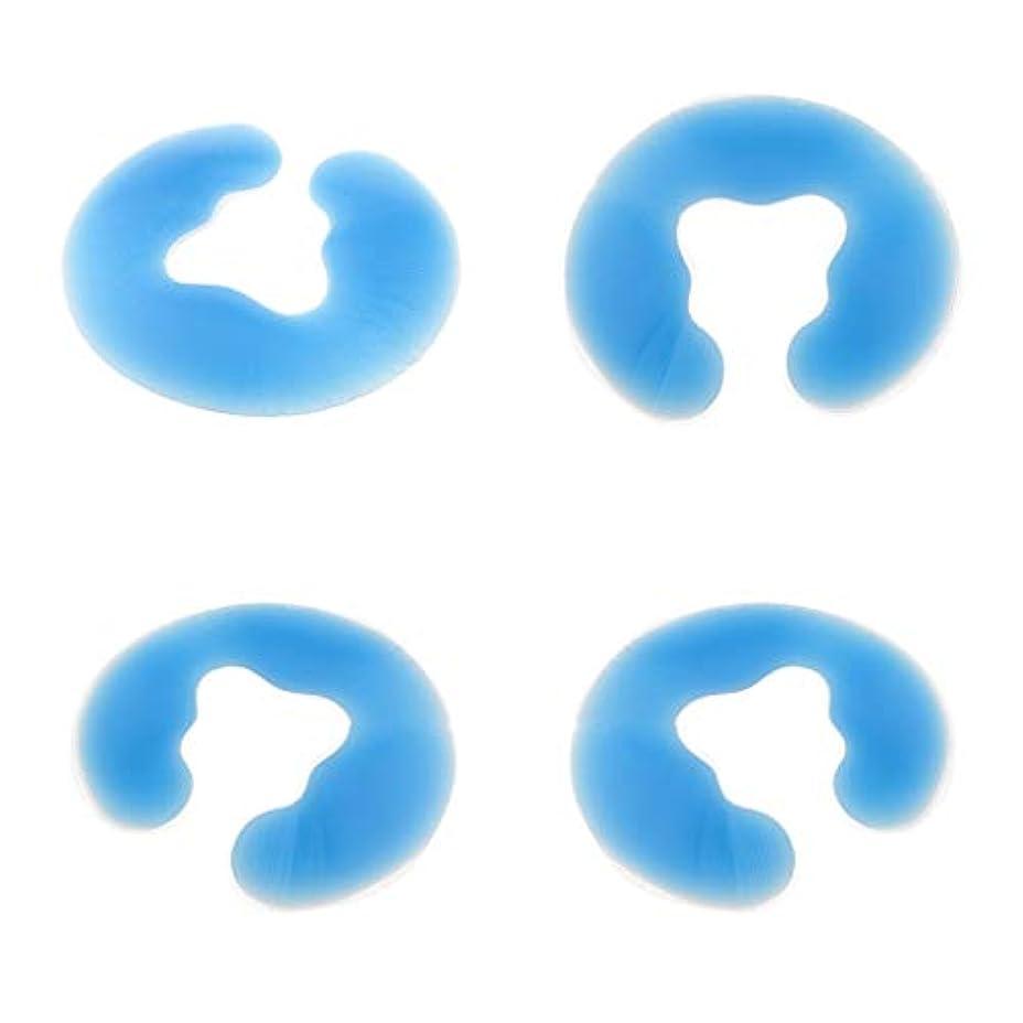 エンゲージメントラビリンス帳面dailymall 美容院のための4 PCの柔らかいシリコーンの表面クッションの鉱泉のマッサージのヘッドレスト