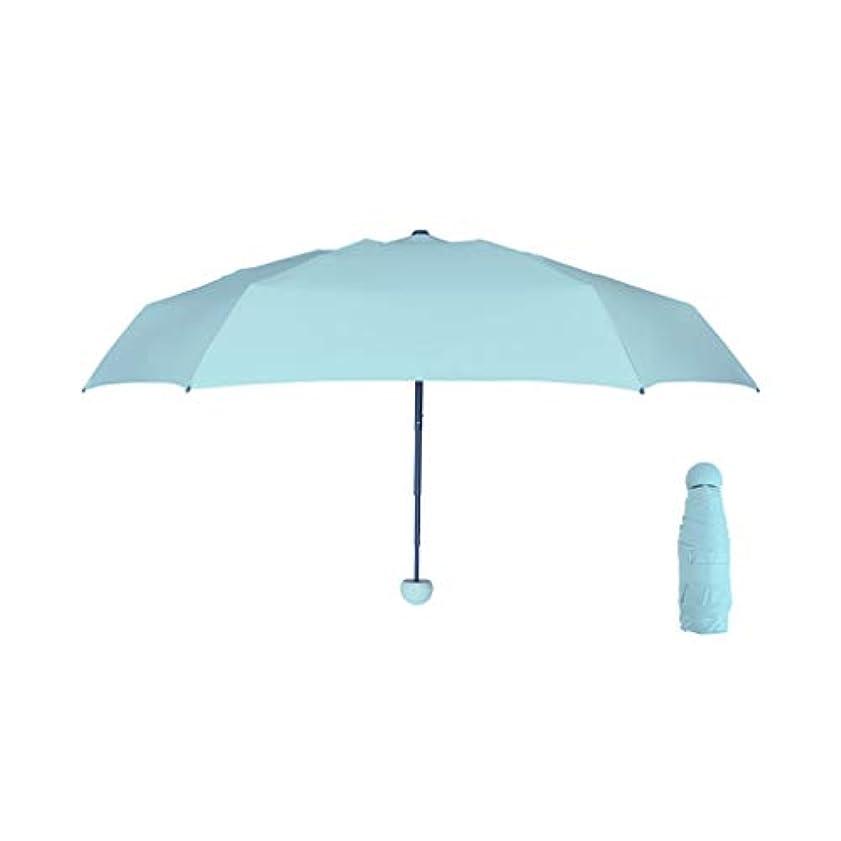 インターネット拒絶カード傘抗UVサンシェード超軽量日焼け止めコンパクトポータブルサン傘 (色 : 青)