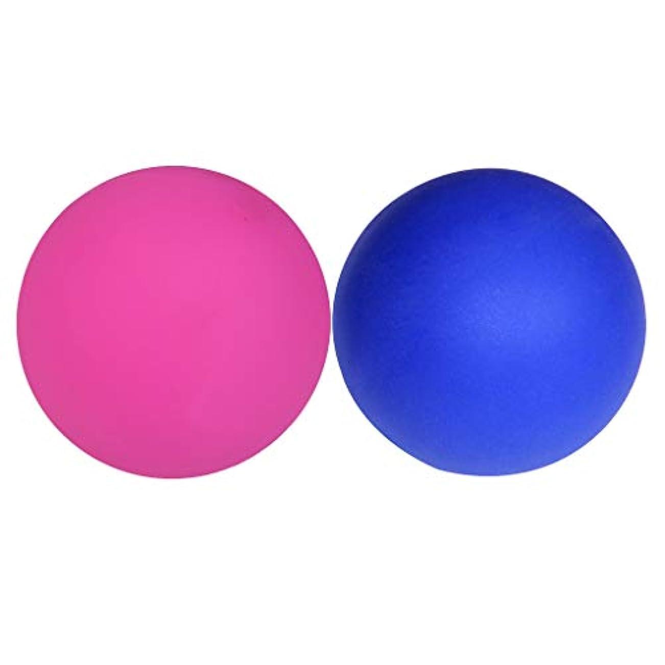 顔料半円投げ捨てるsharprepublic 筋膜の容易さボディトリガーポイントマッサージのための2個のマッサージラクロスボール