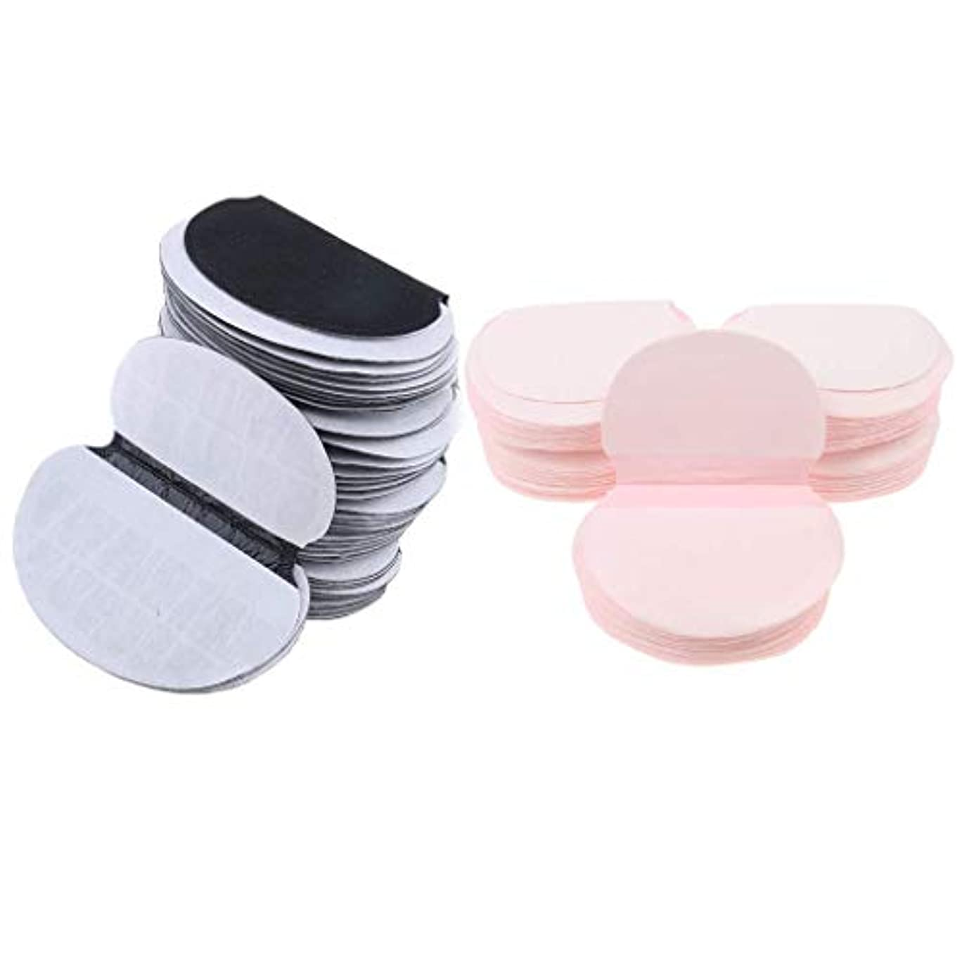 蒸発する下外交官Baoblaze 約100個 使い捨て 脇パッド 汗取りパッド 男性 女性 あせジミ防止 防臭 ブラック ピンク