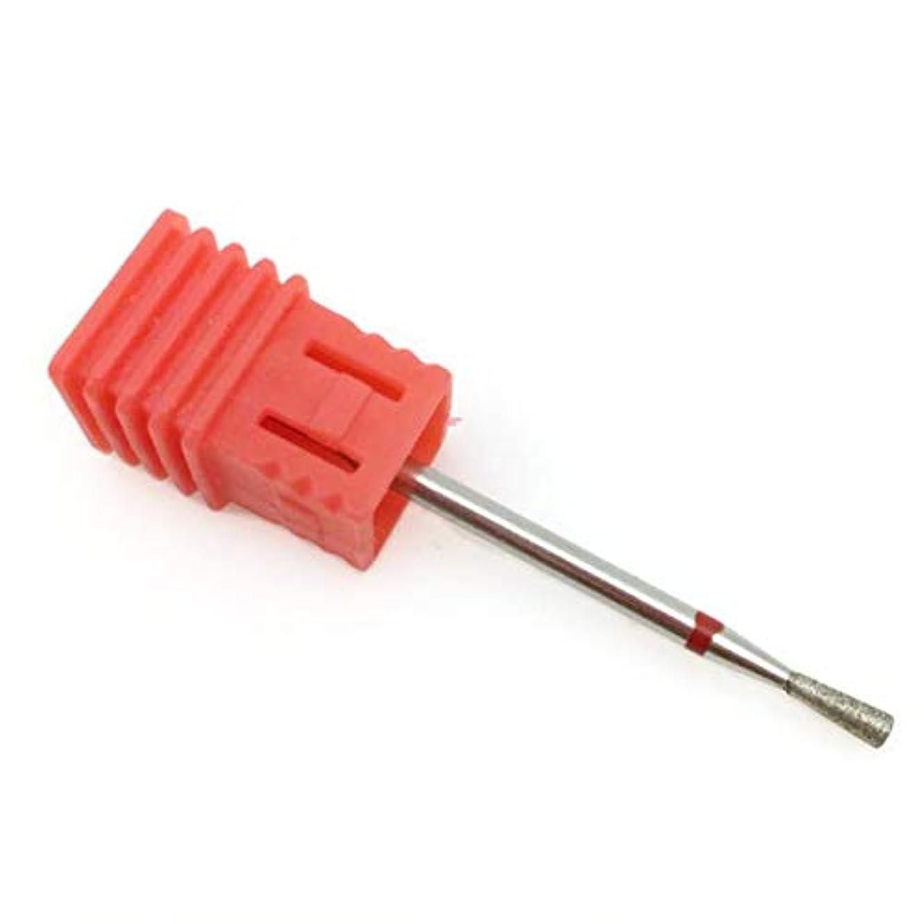 衝動集団カッターYoshilimen 十分な5種類赤ダイヤモンドネイルファイルビットバリミーリングカッターマニキュア電気ネイルドリル爪アクセサリー(None D2)