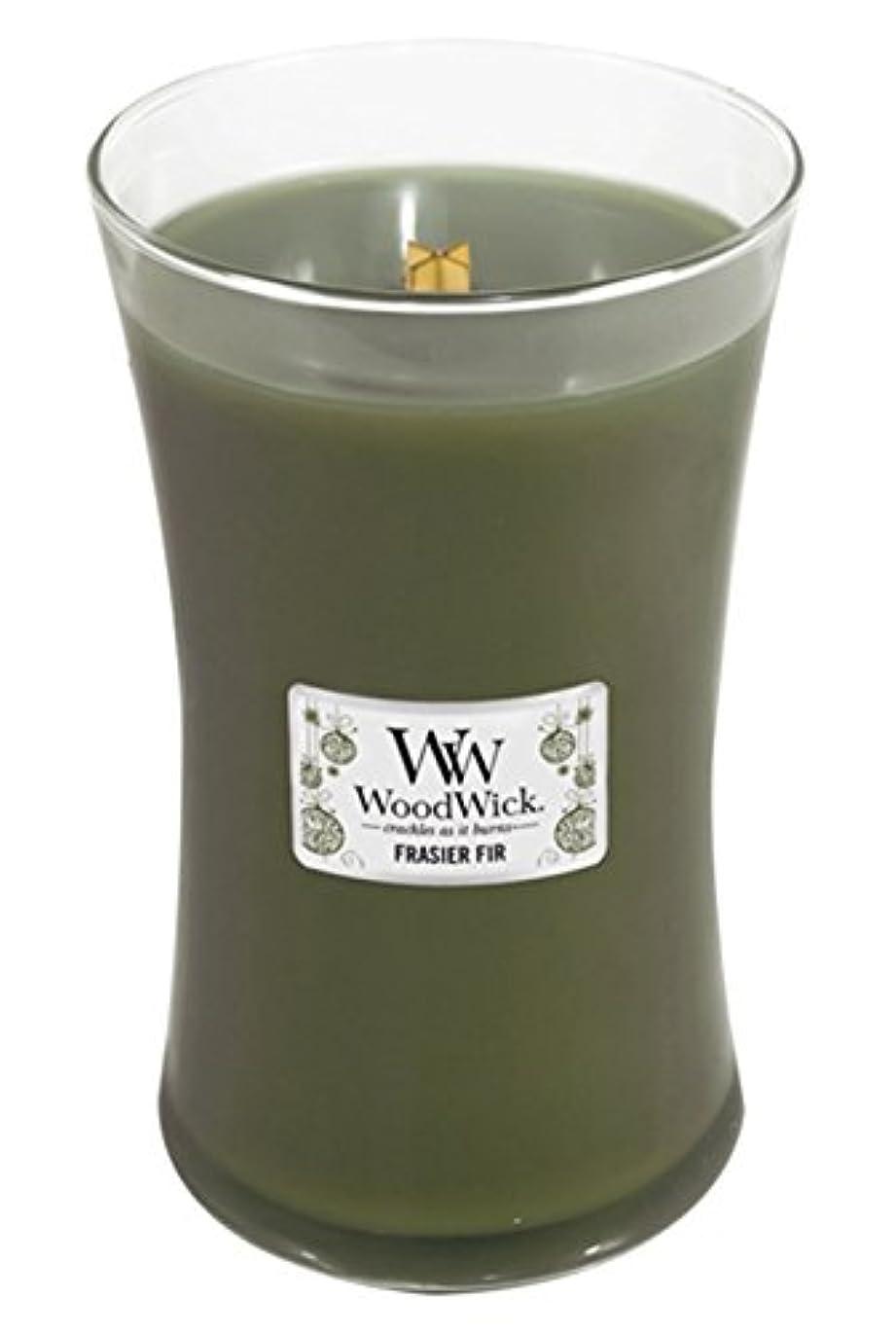 敬な乳白色爵WoodWick Candle, Large Frasier Fir