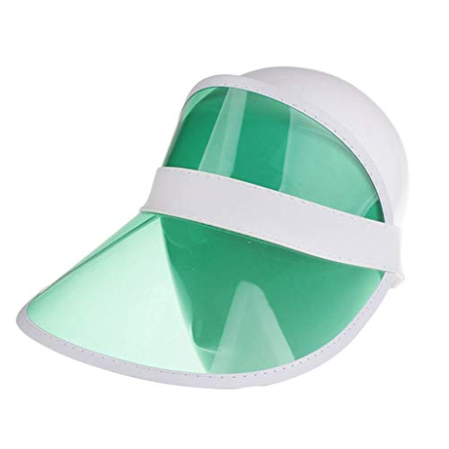 論理的にだますにおいレディースクリアハット帽子レインバイザー UVカットユニセックスアウトドア野球帽帽子