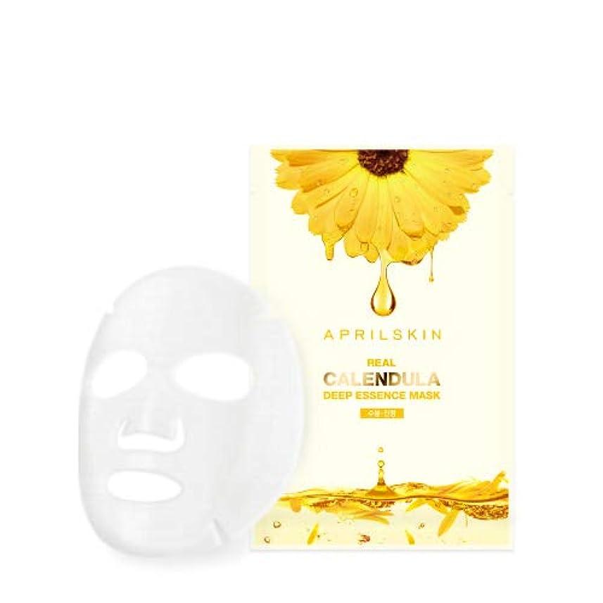 ハブのホスト浴室エイプリルスキンリアルカレンヅルラディープエッセンスマスク 20g 10枚 / APRILSKIN REAL CALENDULA DEEP ESSENCE MASK e0.88 oz. 10EA [並行輸入品]