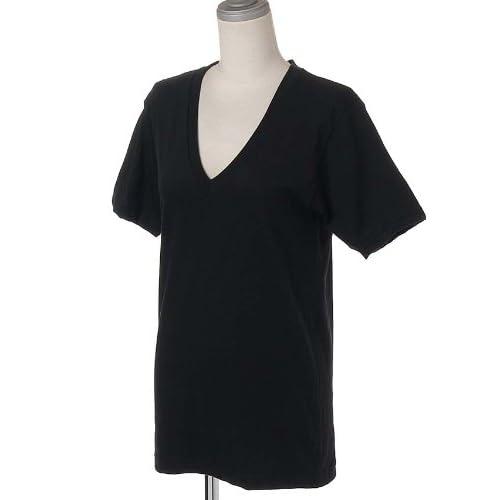 (アメリカンアパレル)American Apparel 2456 Unisex Fine Jersey Short Sleeve V-Neck(ショートスリーブVネック)/半袖カットソー 6/Black M [並行輸入品]