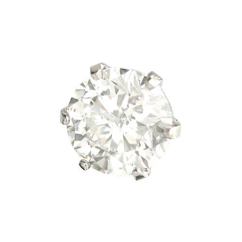 【 DIAMOND WORLD 】レディース ジュエリー PT900 ダイヤモンドピアス 大粒 0.5ct F・Gカラー ダイヤ使用 6本爪タイプ 片耳ピアス メンズピアス レディースピアス
