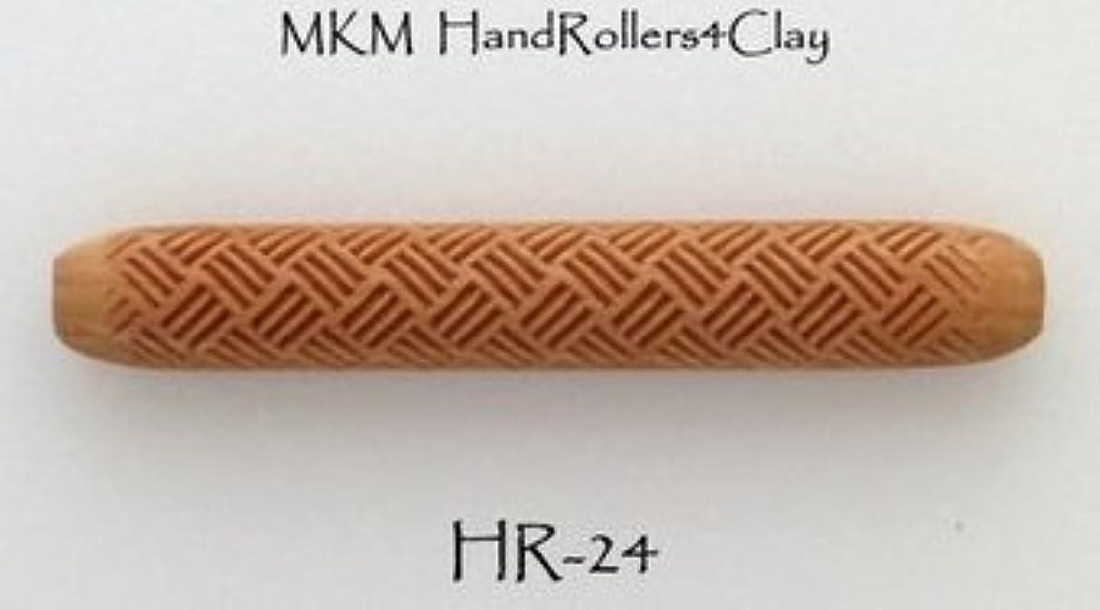 やさしく飢えうなる陶芸用品 陶芸道具 粘土 陶芸 ハンドローラー 印花 型 幅100mm 径15mm HR-24 Produce in USA
