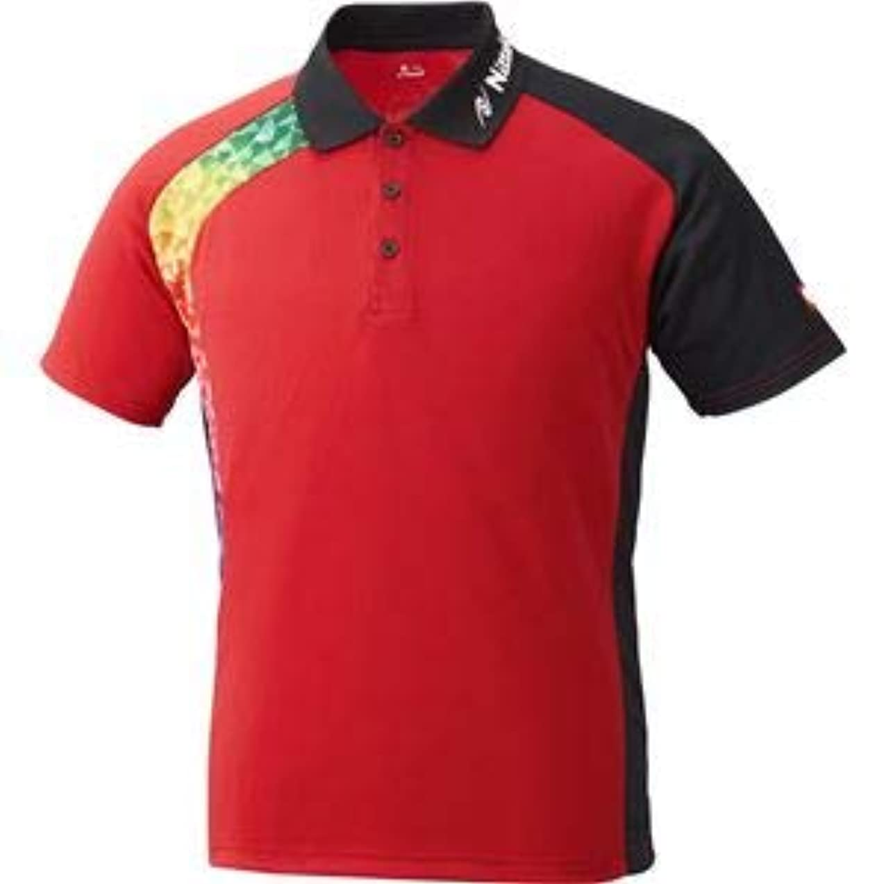 タック入手します区画ニッタク(Nittaku)卓球アパレル BUMERAN SHIRT(ブメランシャツ)ゲームシャツ(男女兼用 )NW2178 レッド SS