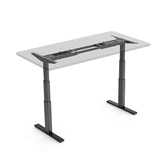 FlexiSpot 電動式スタンディングデスク 高さ調節スタンドアップワークテーブル学習机勉強机 ブラックE3B(天板別売り)
