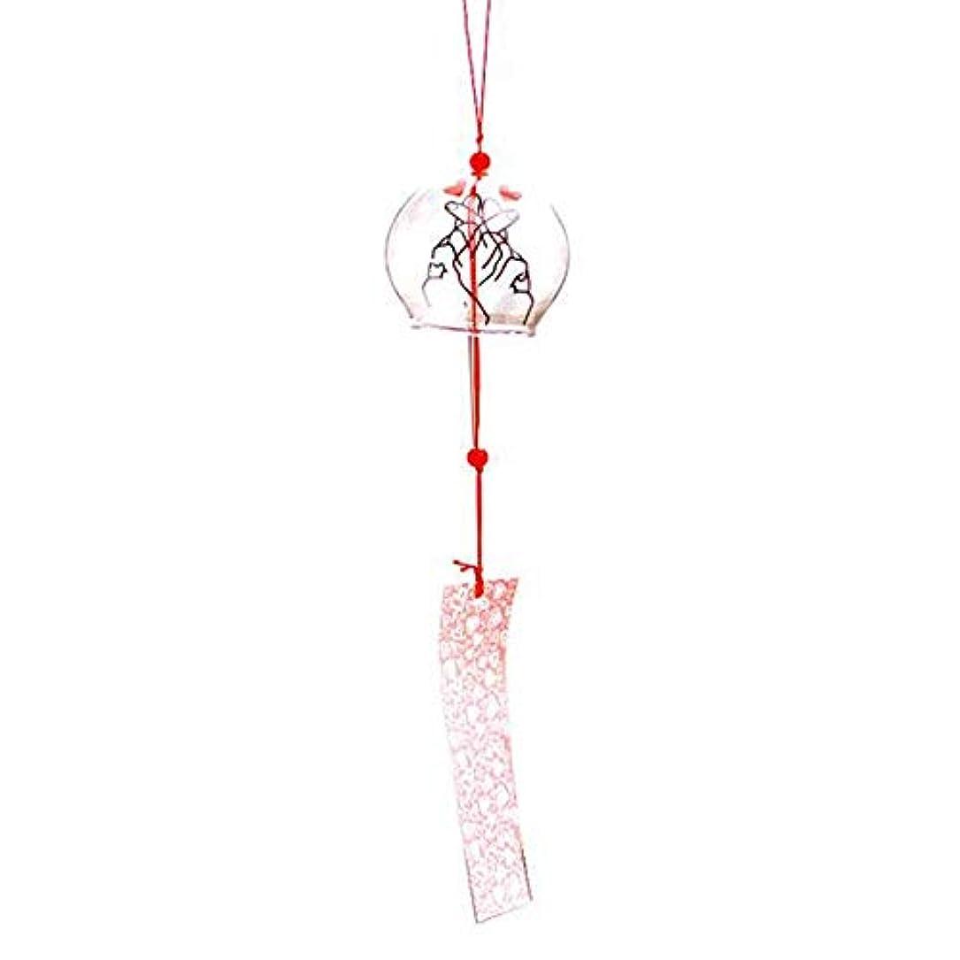 薄いです前部韓国語Youshangshipin 風チャイム、手描きのグラス風チャイム、透明、サイズ6 * 7CM,美しいギフトボックス (Color : Clear)