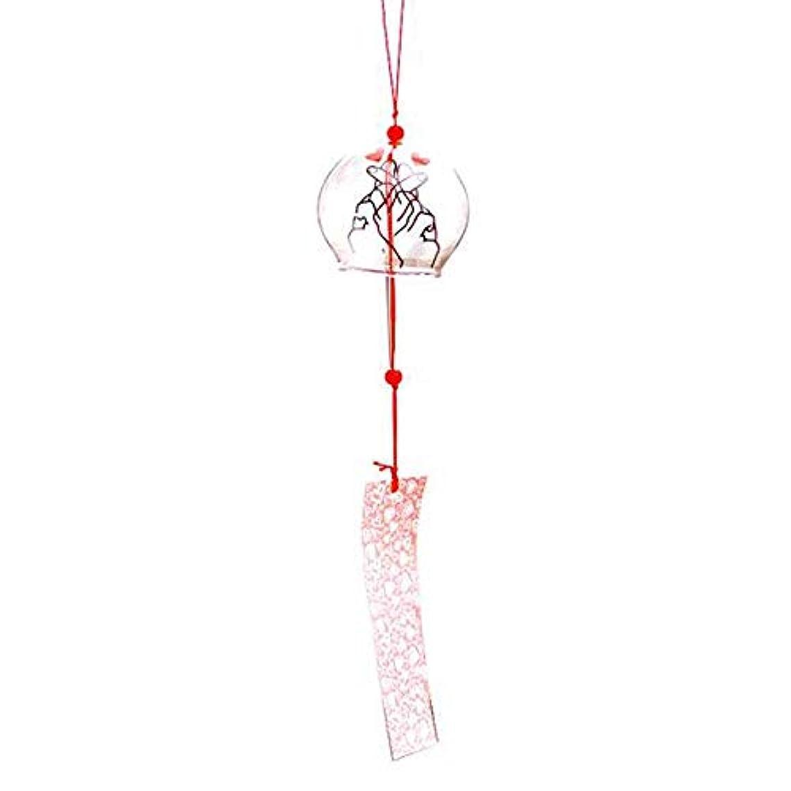 フロー消す伝導Jingfengtongxun 風チャイム、手描きのグラス風チャイム、透明、サイズ6 * 7CM,スタイリッシュなホリデーギフト (Color : Clear)