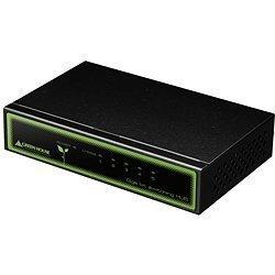 グリーンハウス 5ポート 1000Mbps スイッチングハブ メタルタイプ ブラック GH-EHG5MMK
