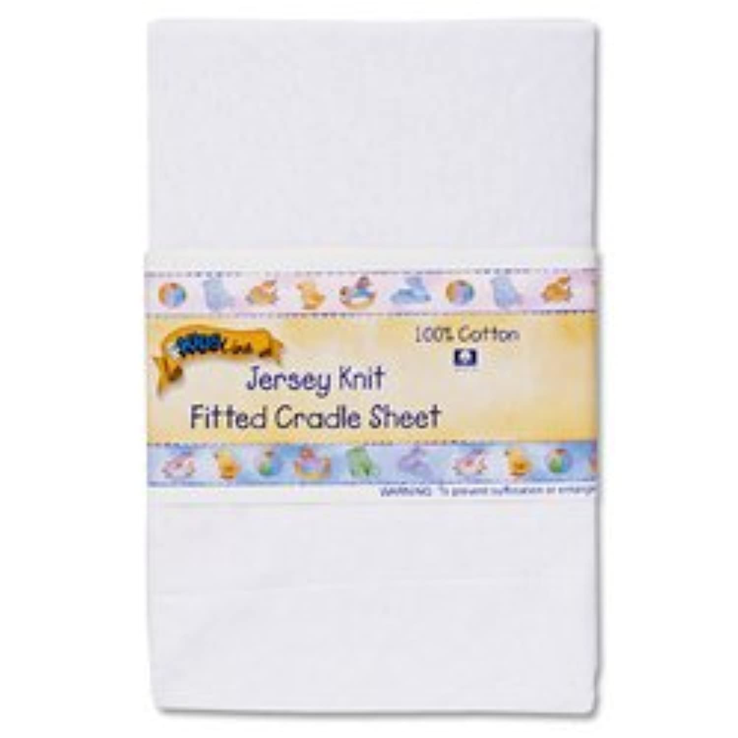 Kids Line Jersey Knit Fitted Cradle Sheet - White by KidsLine
