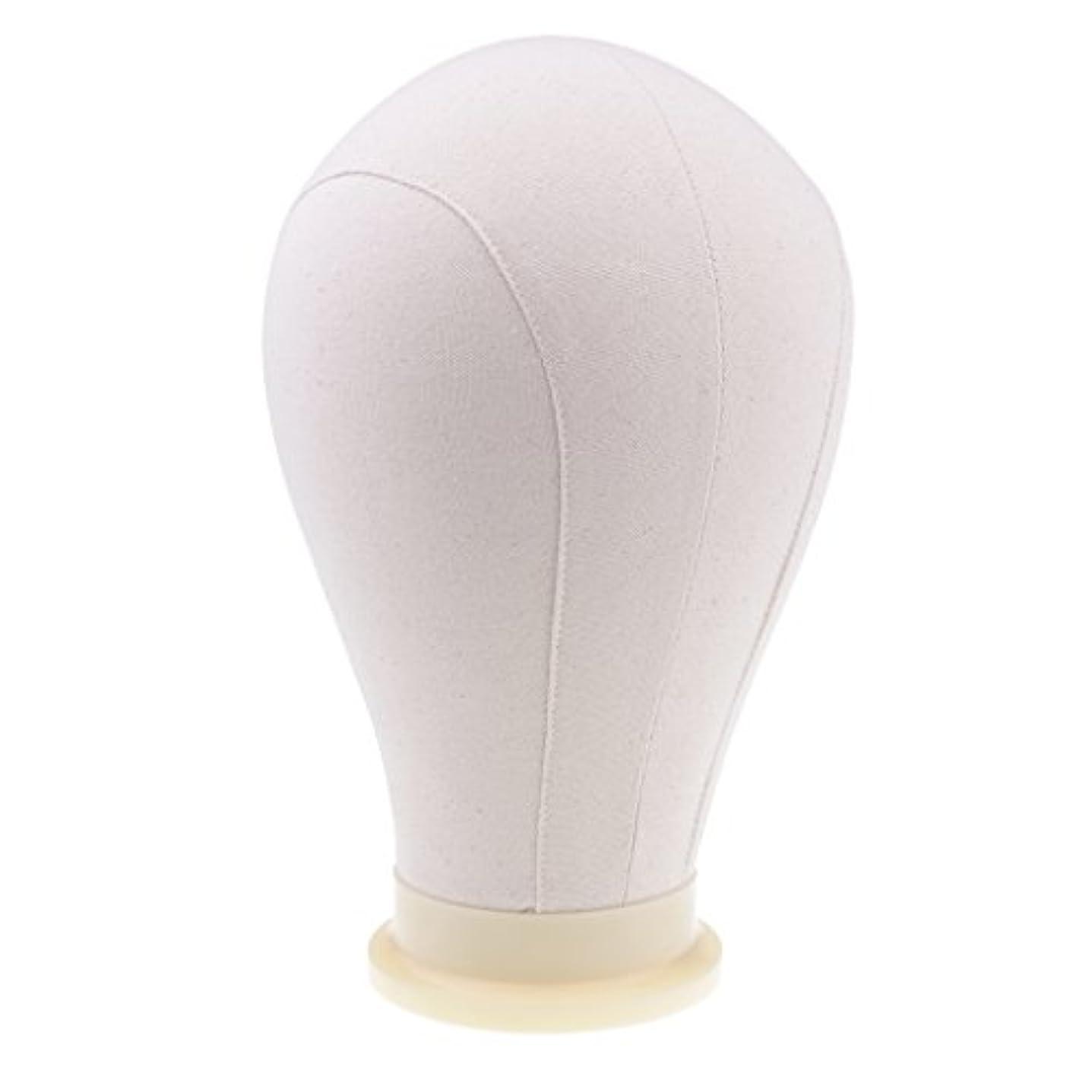 DYNWAVE かつら 帽子 ディスプレイ キャンバスブロック マネキンヘッド 帽子作り ピン付き 4サイズ - 24インチ