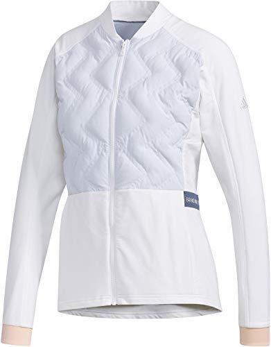 [アディダスゴルフ] 長袖ジャケット ライトウェイト キルティング フルジップ長袖ジャケット レディース GHV30 ホワイト 日本 L (日本サイズL相当)