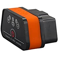 VGATE iCar2 WIFI ELM327 OBD2コードリーダーOBDIIスキャン診断ツールfor Android/ IOS/PCオレンジ+黒い