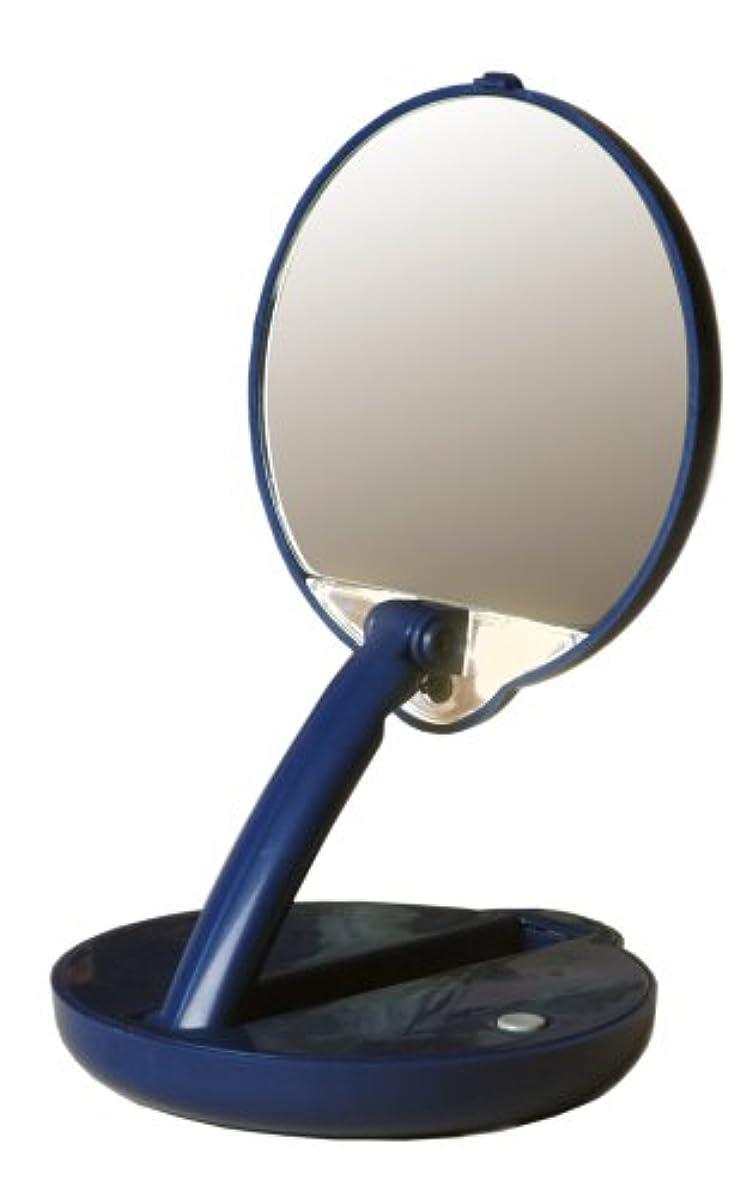 その閉じる同封するアメリカ発 Floxite 15倍ミラー 拡大鏡 メイクアップミラー ライト付き
