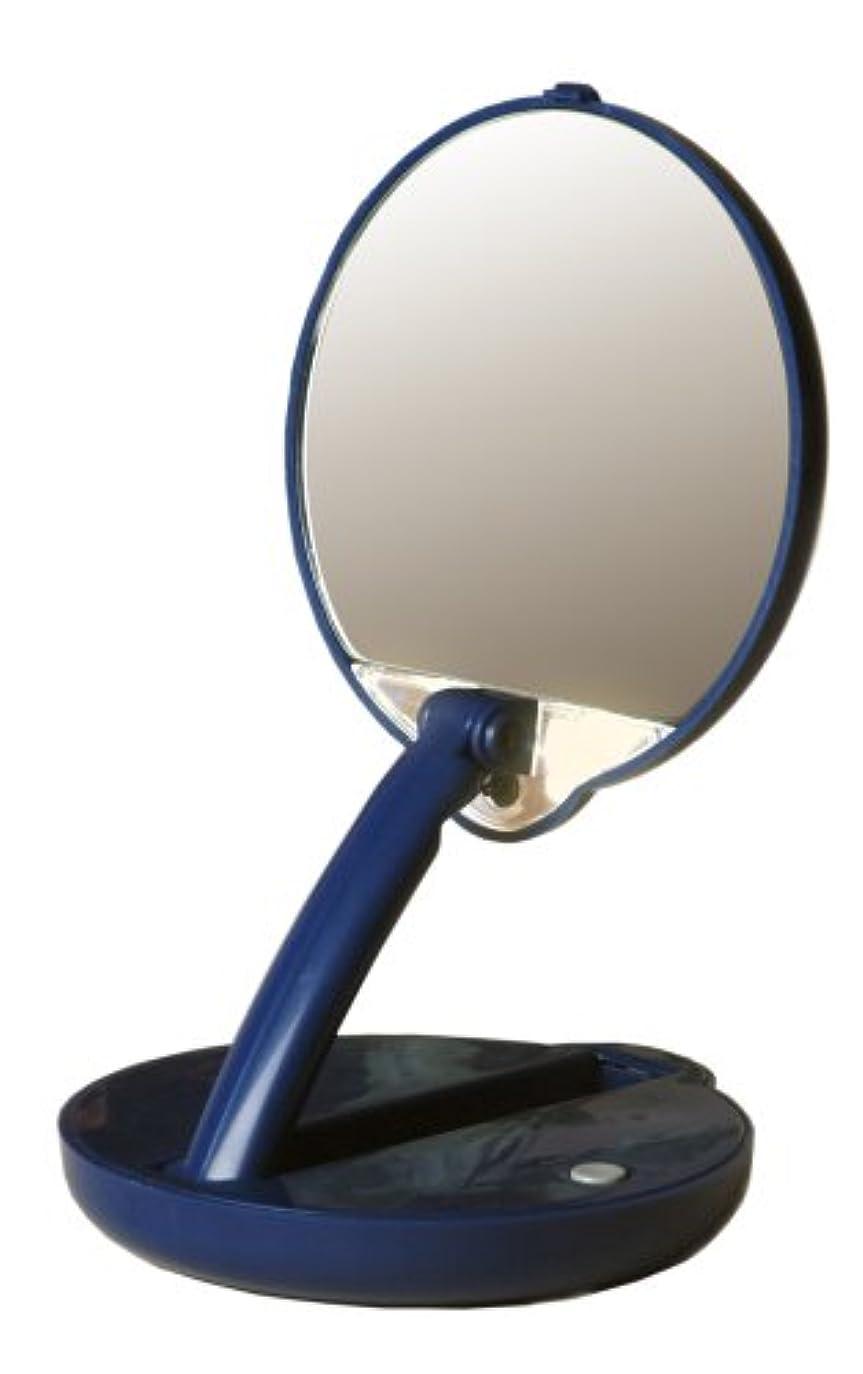ビット機転巻き戻すアメリカ発 Floxite 15倍ミラー 拡大鏡 メイクアップミラー ライト付き