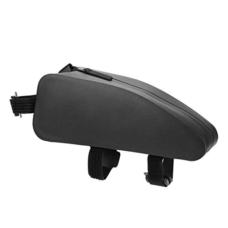 存在導体オデュッセウス自転車トップチューブバッグ サドルバッグ バイクサイドバッグ 防水 大容量 簡単装着 小物収納 サイクリング用 ブラック