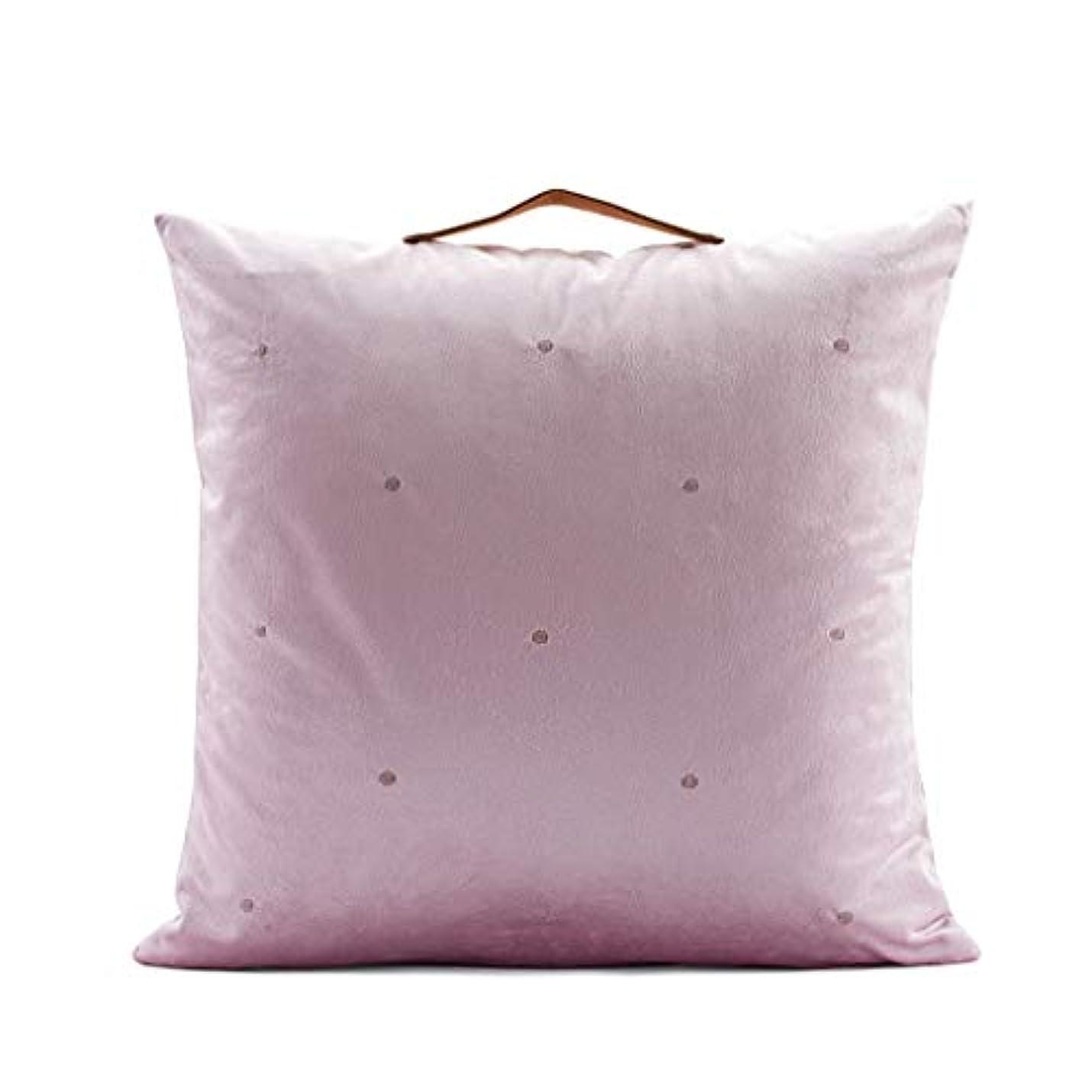 あそこノイズ劣るLIUXIN 刺繍入り枕、正方形のソリッドクッション、イタリア製ベルベット枕カバー45cm×45cm ソファ枕 (色 : A)
