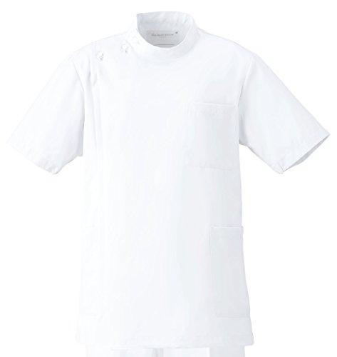フォーク 男子医務衣 ホワイト M 1087-1 1枚