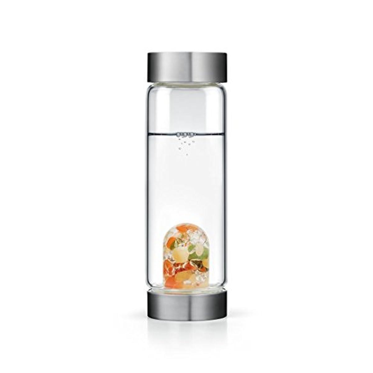 移植意義先行するHappiness gem-waterボトルby VitaJuwel W / Freeカリフォルニアホワイトセージバンドル 16.9 fl oz