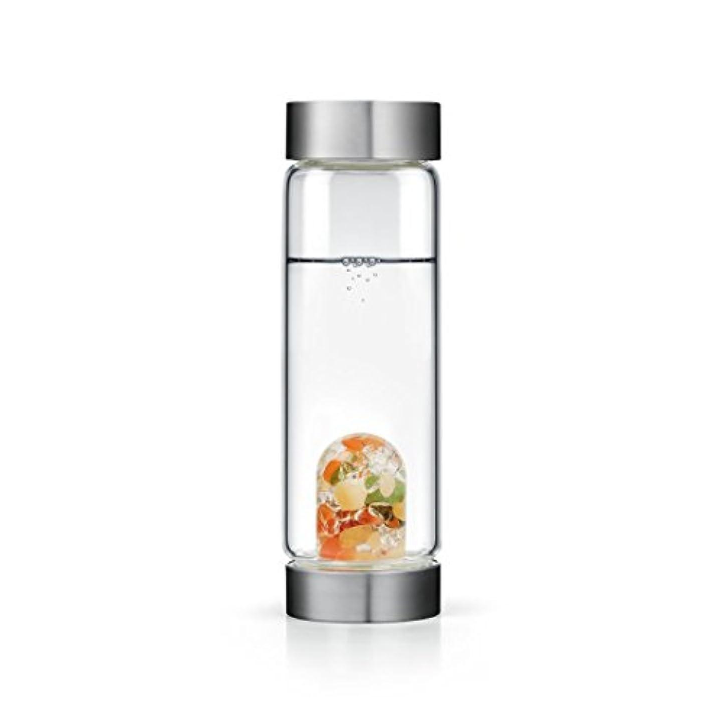 造船ゴージャス矩形Happiness gem-waterボトルby VitaJuwel W / Freeカリフォルニアホワイトセージバンドル 16.9 fl oz