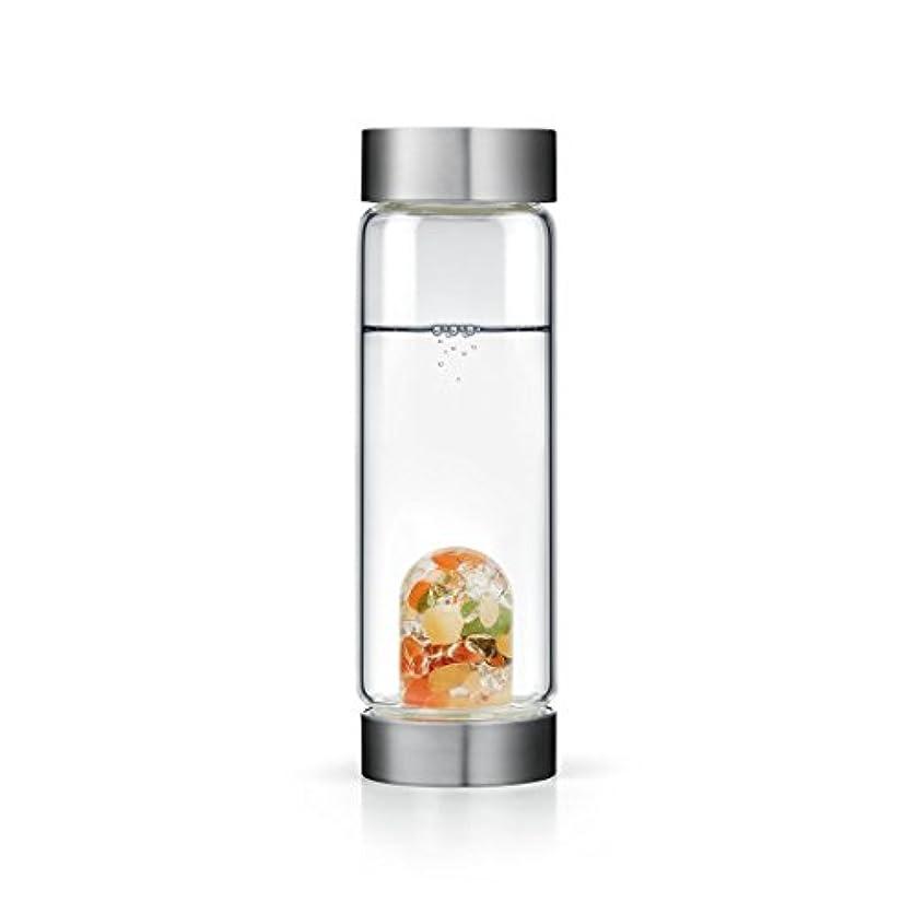究極のその間有名Happiness gem-waterボトルby VitaJuwel W / Freeカリフォルニアホワイトセージバンドル 16.9 fl oz