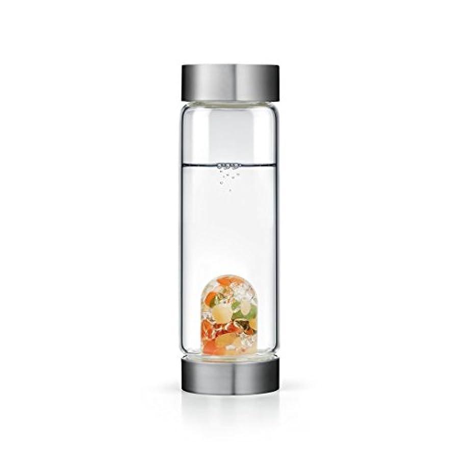 電子レンジすなわちプラットフォームHappiness gem-waterボトルby VitaJuwel W / Freeカリフォルニアホワイトセージバンドル 16.9 fl oz