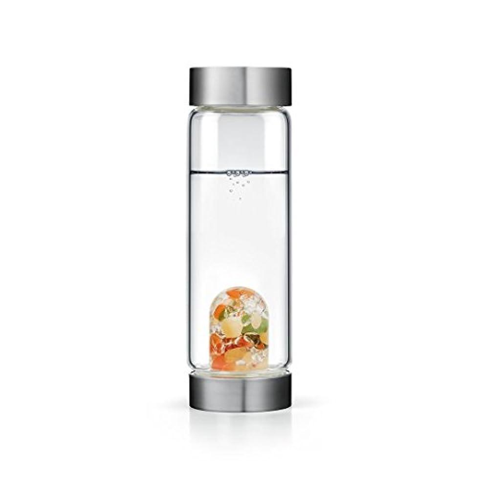 文明化三番マークダウンHappiness gem-waterボトルby VitaJuwel W / Freeカリフォルニアホワイトセージバンドル 16.9 fl oz