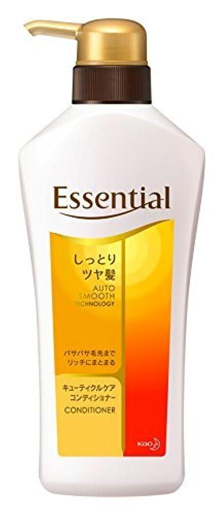 悪性タオル省エッセンシャル コンディショナー しっとりツヤ髪 ポンプ 480ml Japan