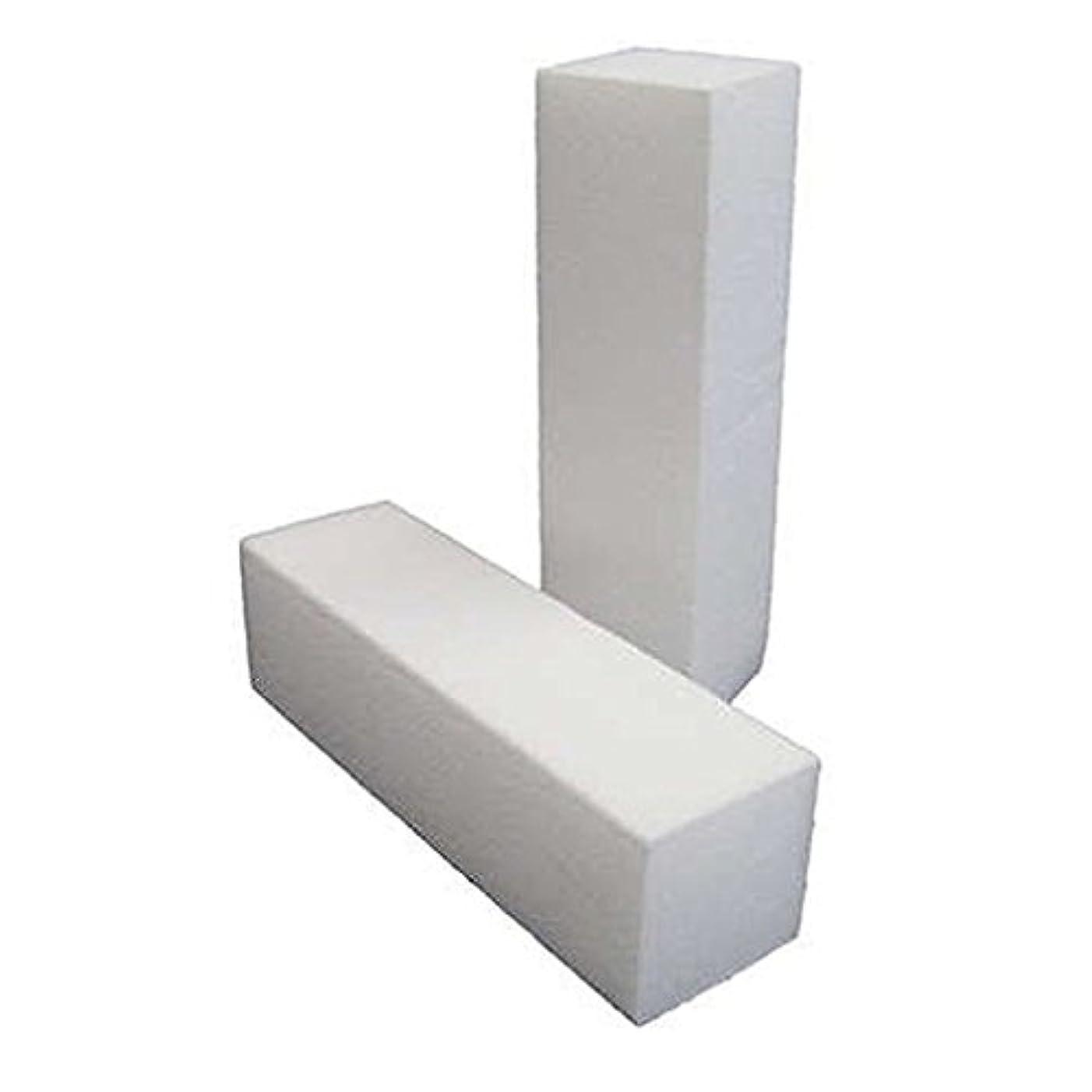 SODIAL(R) バッファーバフサンディングブロックシャイナーファイルアクリルネイルアートホワイト