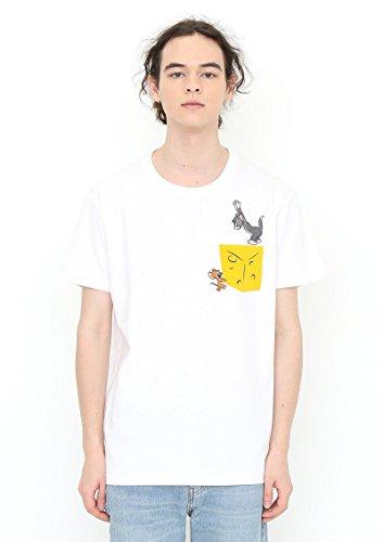 (グラニフ) graniph コラボレーション Tシャツ ビッグチーズ (トムとジェリーショートスリーブティーB) (ホワイト) L