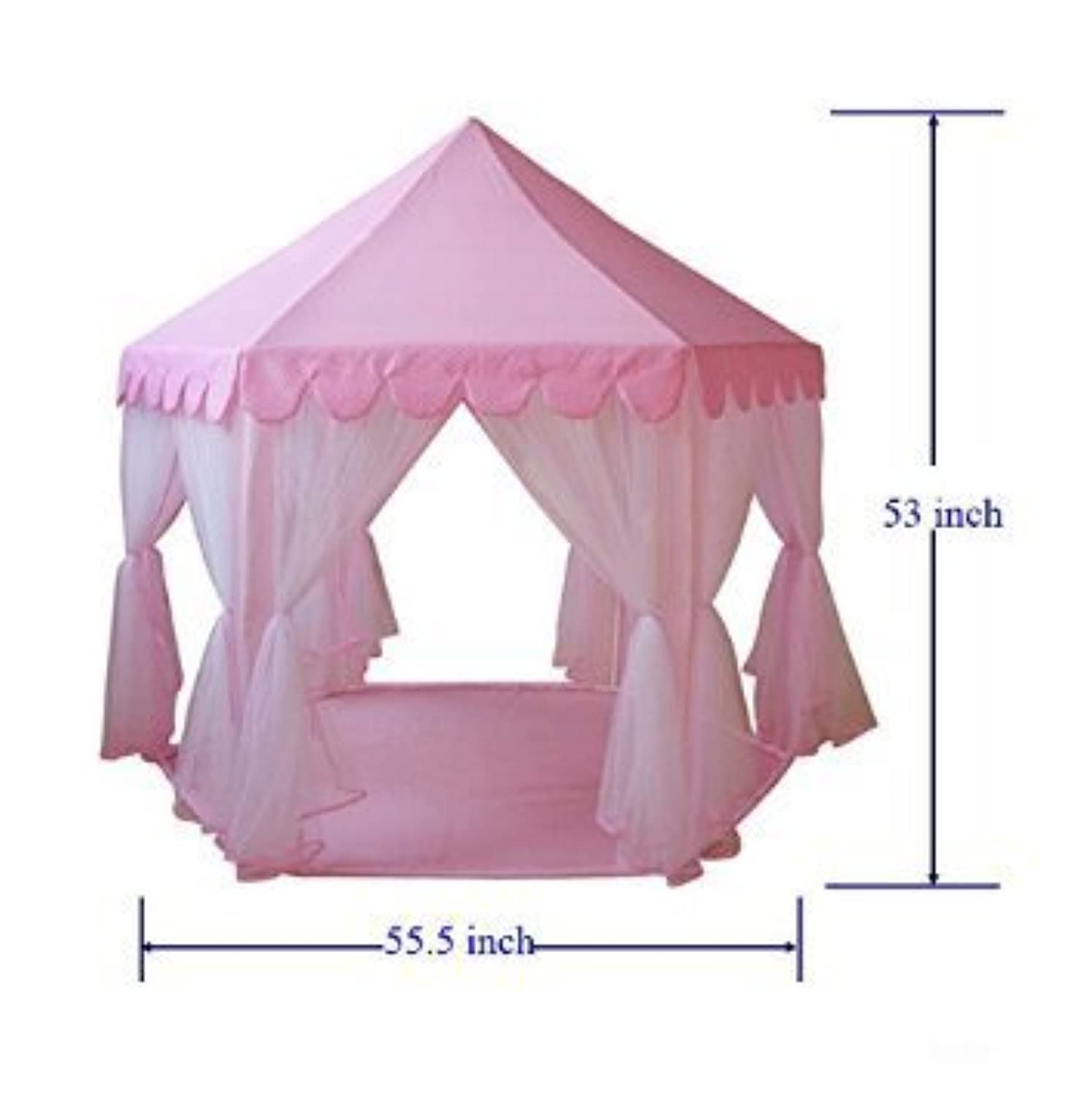GreEco Pop Up Foldable Mongolianyurts Castle Play Tent Extra Large - Pink [並行輸入品]