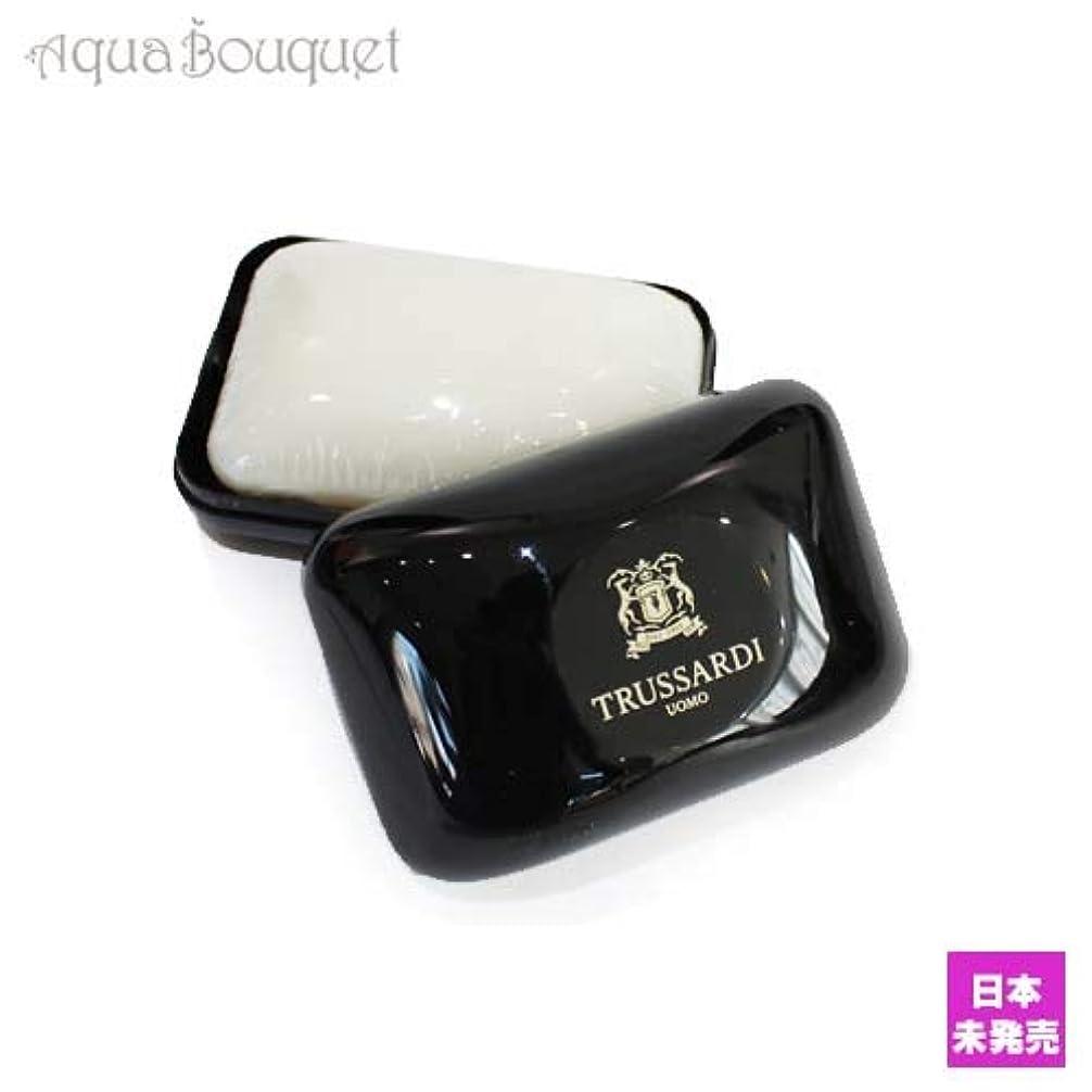 権利を与える略す後方トラサルディ ウォモ ソープ 100g(ケース付き)TRUSSARDI UOMO SOAP [7216] [並行輸入品]