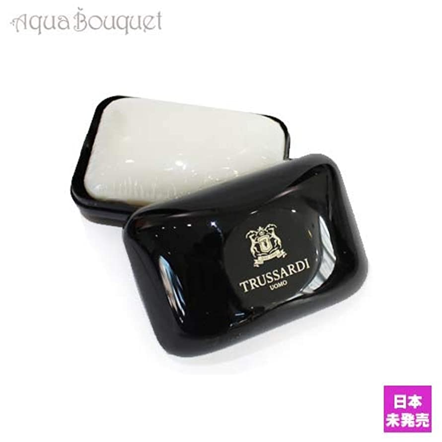 ありふれた混合ワードローブトラサルディ ウォモ ソープ 100g(ケース付き)TRUSSARDI UOMO SOAP [7216] [並行輸入品]