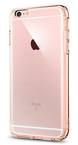 Spigen iPhone6s Plus ケース / iPhone6 Plus ケース, [ 背面 クリア ] ウルトラ・ハイブリッド アイフォン6s プラス / 6 プラス 用 米軍MIL規格取得 耐衝撃カバー (ローズ・クリスタル SGP11726)