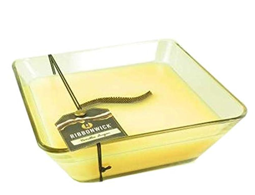 書道に沿って展開する1 xバニラ砂糖装飾ガラス – RibbonWick Scented Candle