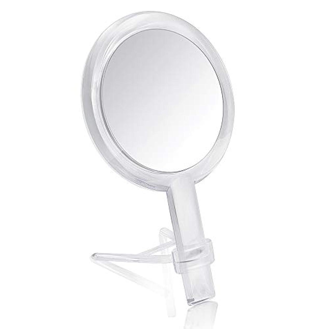 安いですファーム葉を拾うGotofine 両面鏡 手鏡 卓上鏡 7倍と等倍 ハンドミラー スタンドミラー 化粧鏡 メイク クリア 円形