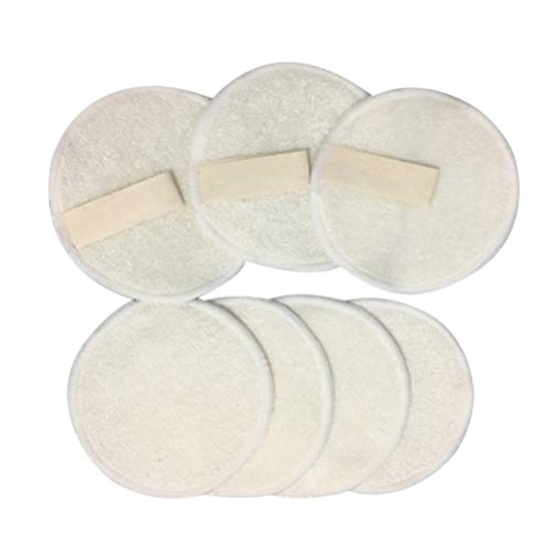 テナントセント野生SUPVOX 竹コットンパッド 天然コットン 化粧リムーバーパッド 再利用可能 化粧落としパッド メイク落とし 10枚セット 洗い簡単