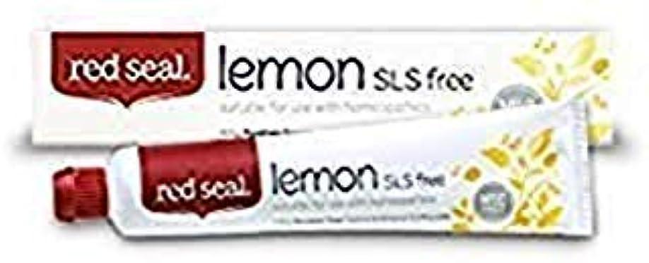 バドミントン休戦パイントRed Seal Natural Lemon SLS Free Toothpaste That's Mint-free by Red Seal