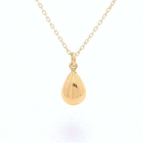 Tear Drop (L) 18金製 K18 gold ゴールド (日本製 Made in Japan) (金属アレルギー対応) ティアドロップ (Lサイズ) プチ ペンダント ネックレス チェーン ジュエリー (Amazon.co.jp 限定) [HJ] (45センチメートル)