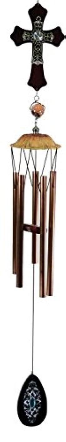 呼び出すエンジン行方不明GREAT WORLD Wooden Cross Wind Chime 953003