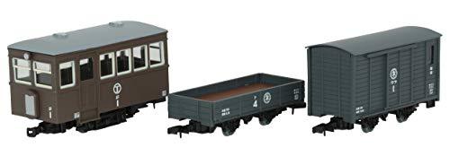 鉄道コレクション 鉄コレ ナローゲージ80 猫屋線 ジ1・ト4・ワフ1 茶色塗装 ジオラマ用品 (メーカー初回受注限定生産)