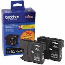 Brother純正ブランド名、OEM lc65hybk ( lc-65hybk ) 2- Pack高イールドブラックインクジェットカートリッジ( 900Yld Ea )のdcp-383C、dcp-6690cw、mfc-5890cn、mfc-6490cn、mfc-6490cw、mfc-6890cdwプリンタ
